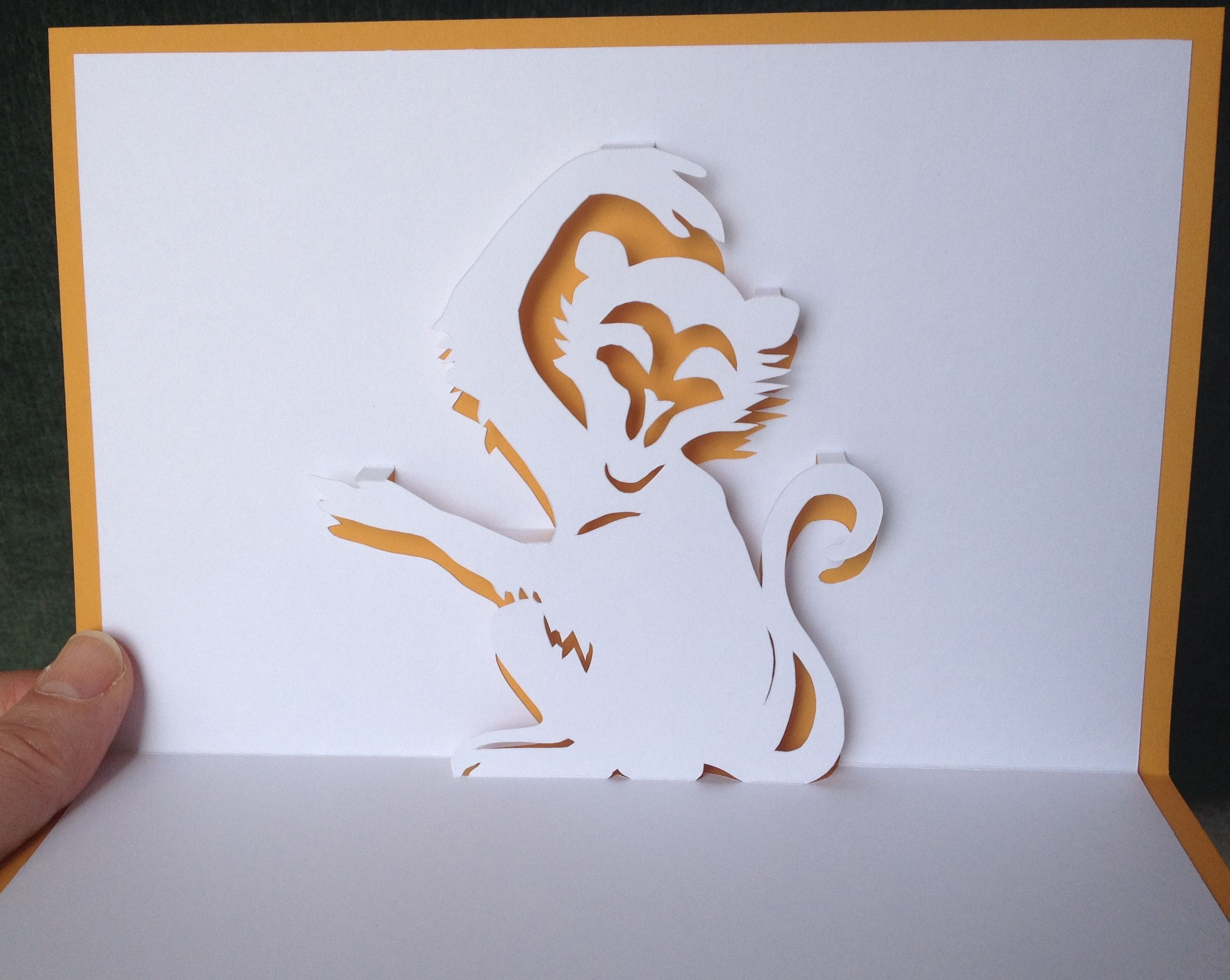 Monkey Pop Up Card Tarjetas Making Ideas Grabado