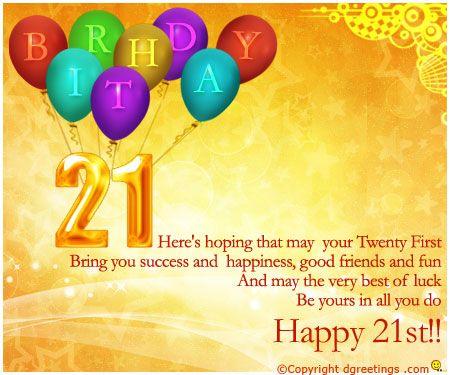21st Birthday Wishes Happy 21st Birthday Cards Happy 21st Birthday Wishes