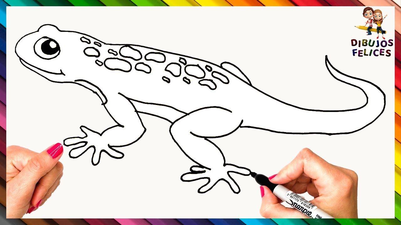 Como Dibujar Un Lagarto O Lagartija Paso A Paso Dibujo Facil De Lagart Dibujos De Lagartijas Dibujos De Lagartos Lagartijas
