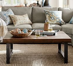 Glass Wood And Metal Coffee Tables Pottery Barn Furniture - Pottery barn glass side table