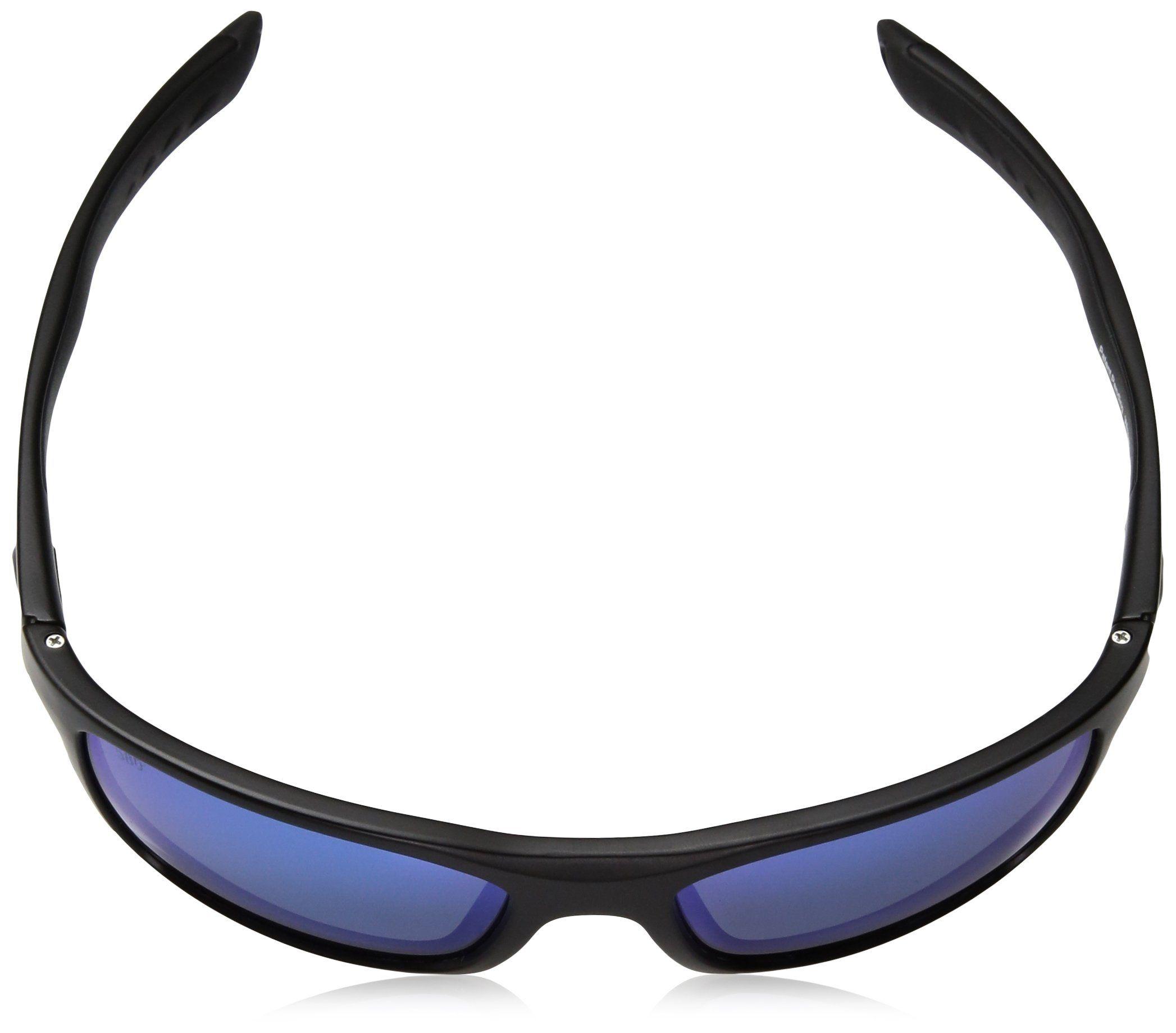c56727b1c4 Costa del Mar Mens Whitetip Polarized Iridium Rectangular Sunglasses  Blackout 58 mm -- Be sure