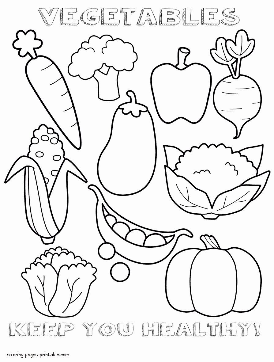 Pin By Parisa Zarmehr Zamin On Kiku Fruit Coloring Pages Food Coloring Pages Vegetable Coloring Pages