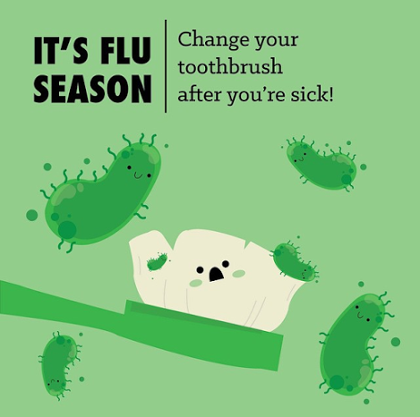 Dentaltown - It is flu season so please remember to change your toothbrush after you're sick! #dentalfacts