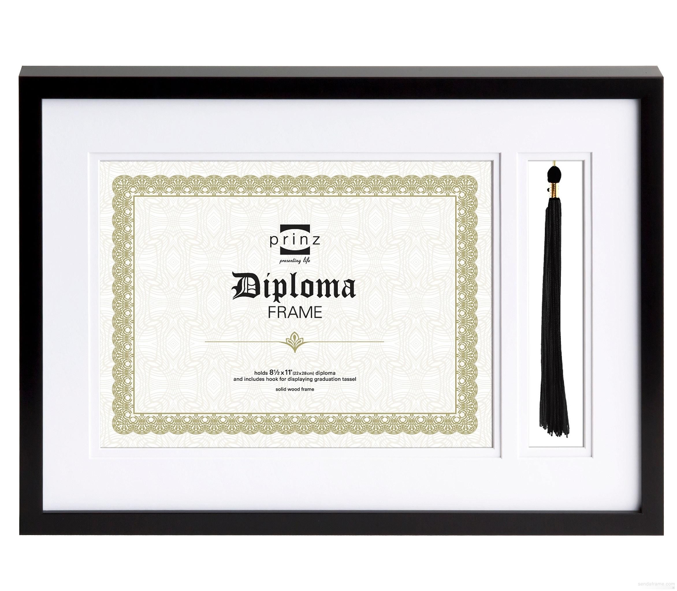 The COMMENDABLE diploma frame with tassel holder by Prinz® - Picture ...