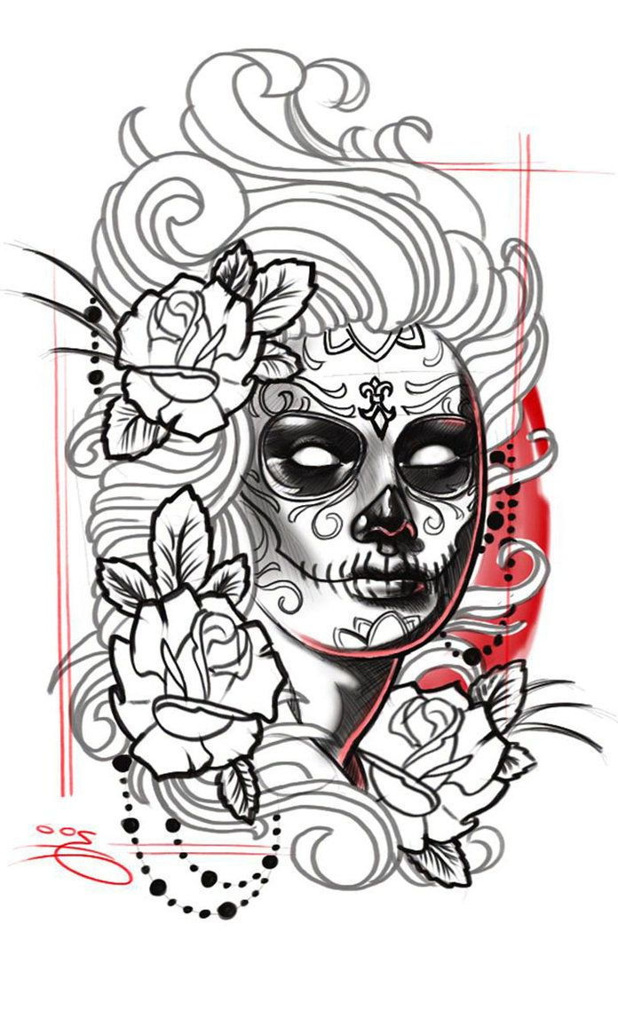 la catrina tattoo bedeutung was steht hinter dem trend tattoo design pinterest tattoo. Black Bedroom Furniture Sets. Home Design Ideas
