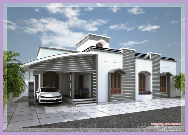 Awesome Modern House Designs One Floor Kerala House Design Modern House Plans Modern House Design
