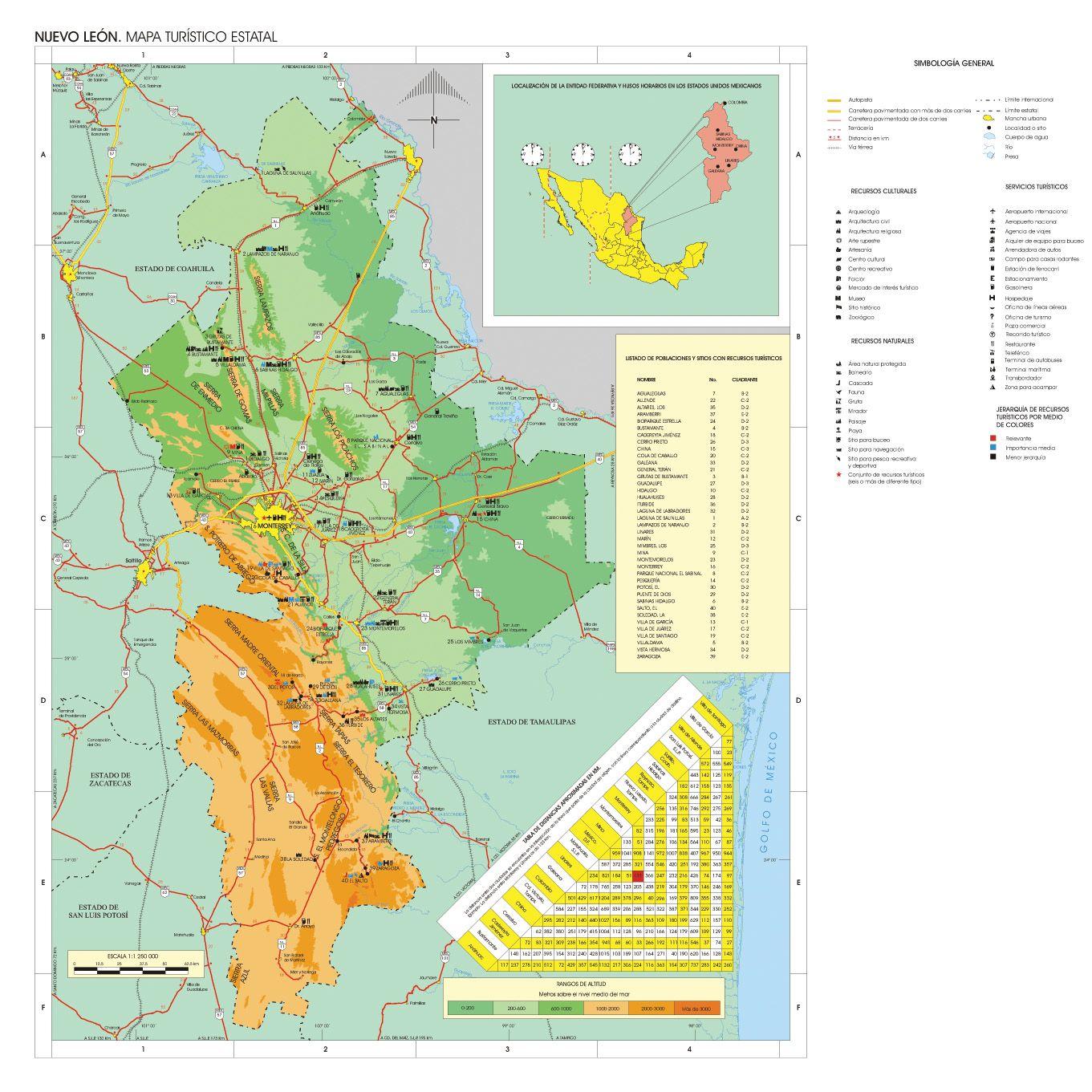 Nuevo Leon Bing Imagenes Mapa Del Mundo Mapa Turistico