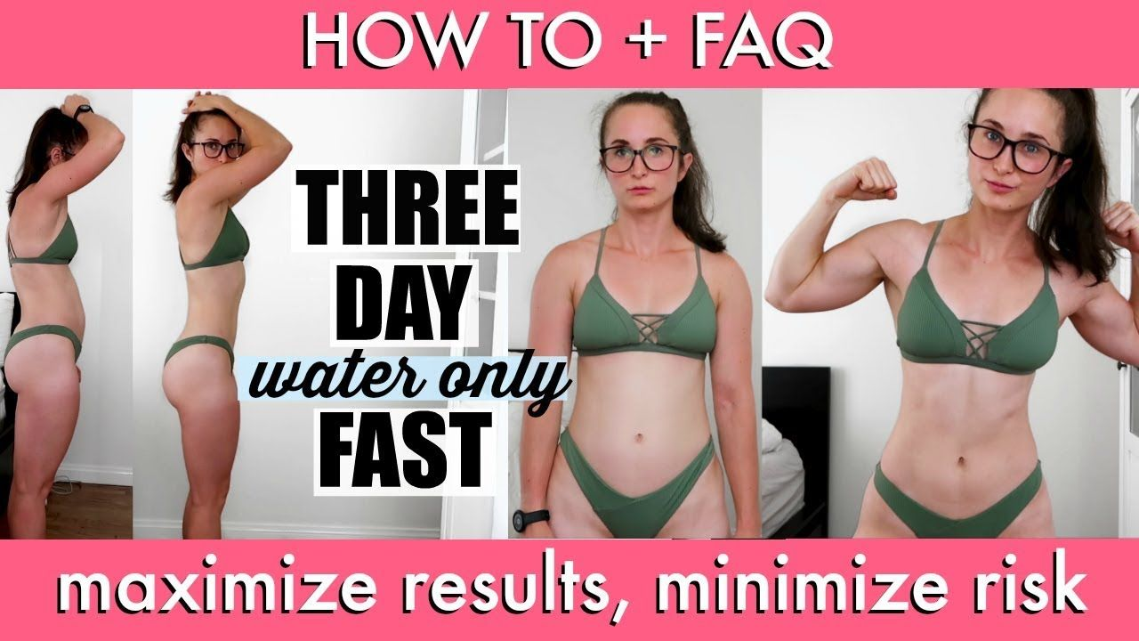 I DID A 3 DAY WATER FAST | How To + Tips & Tricks - YouTube