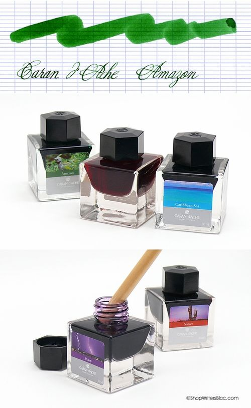 Caran d'Ache Fountain Pen Ink- Amazon, if Amazon still has any of these inks, try them!  They're beautiful!
