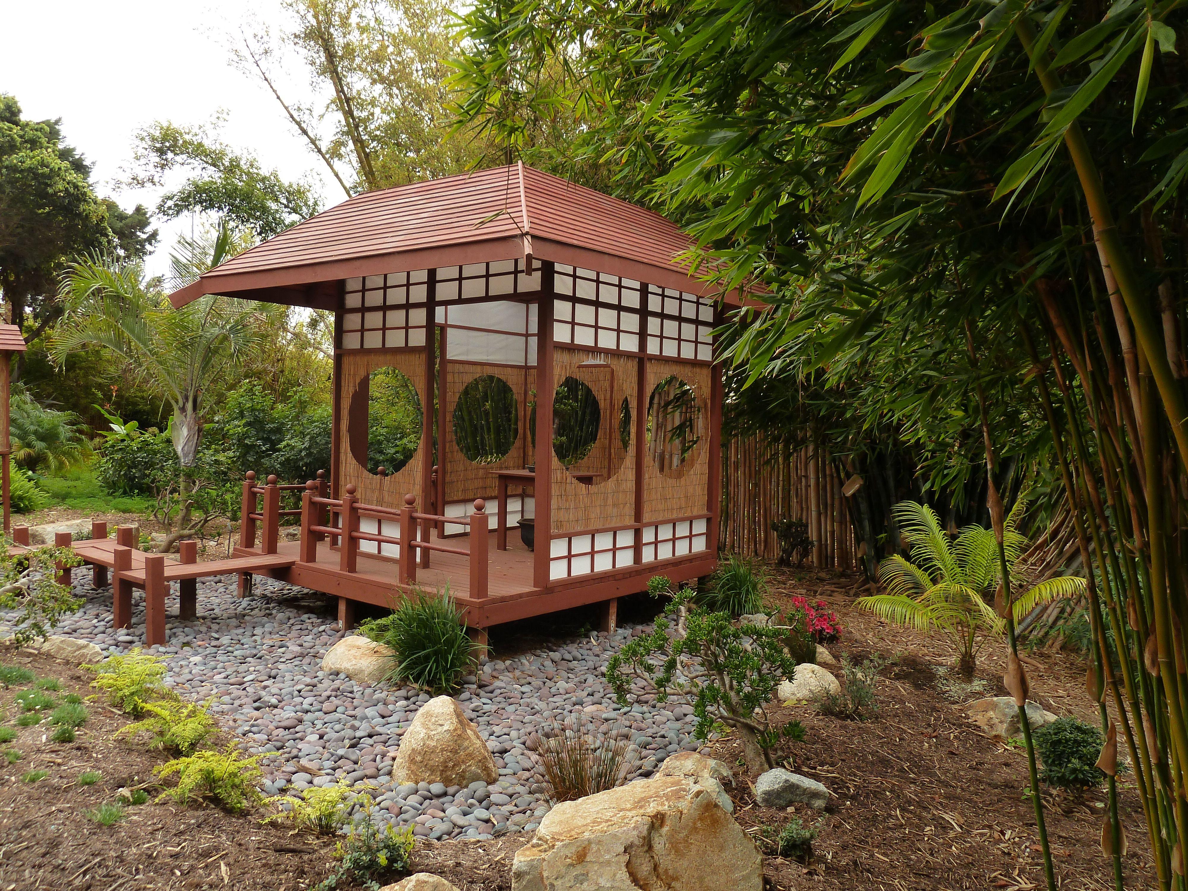Tea House in the Bamboo Garden, San Diego Botanic Garden | Bamboo ...
