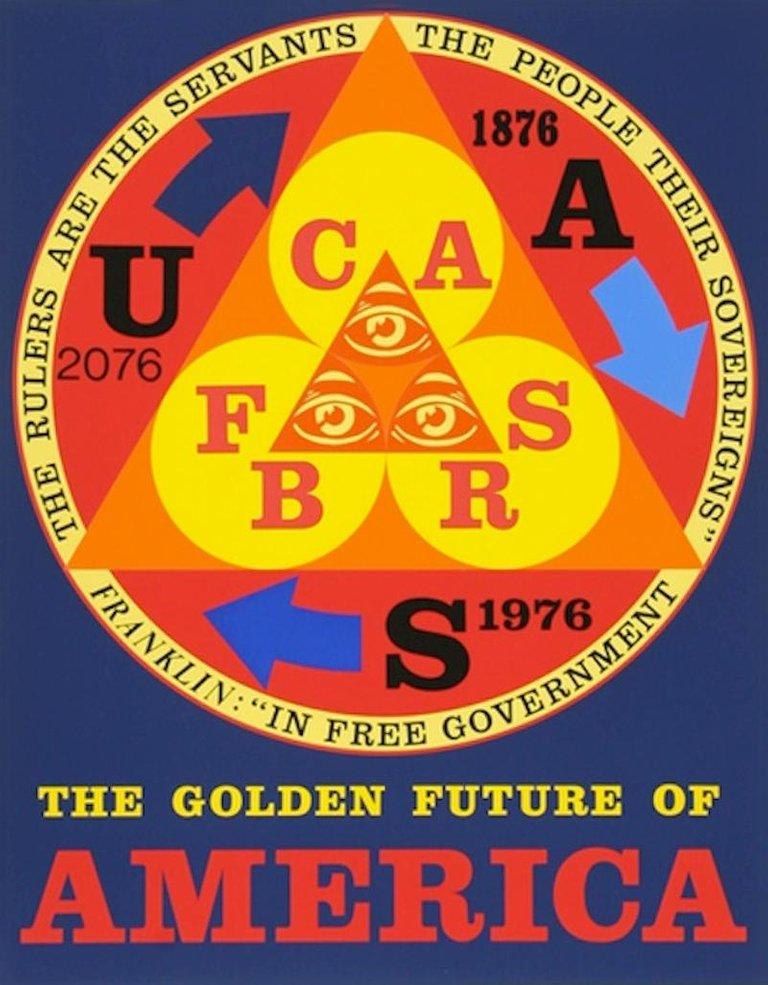 Robert Indiana Golden Future Of America Indiana America