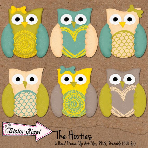 Digital Scrapbook Owl Clip Art for Digital and by ...