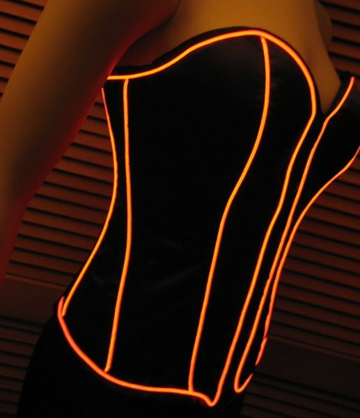 Bras With EL Wire: Enlighted Illuminated Clothing | EL wire ...