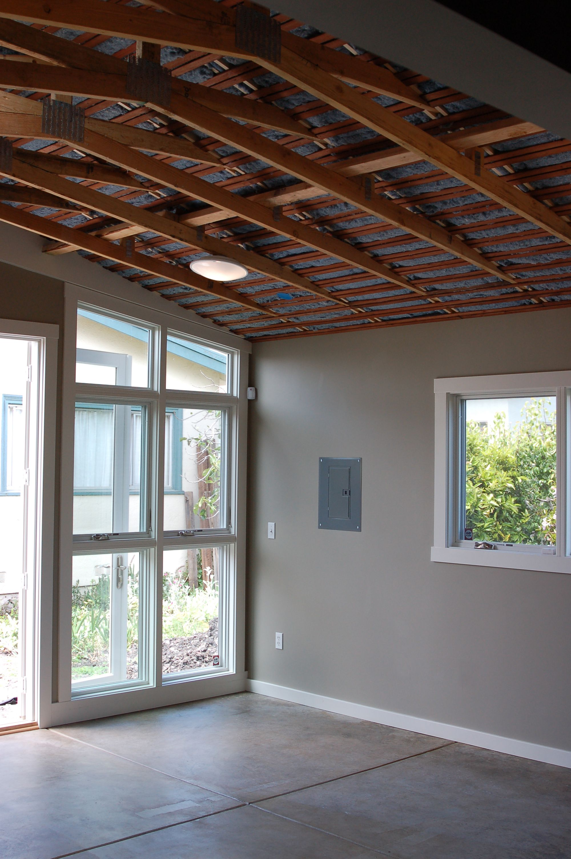 Exposed Ceiling + Insulation