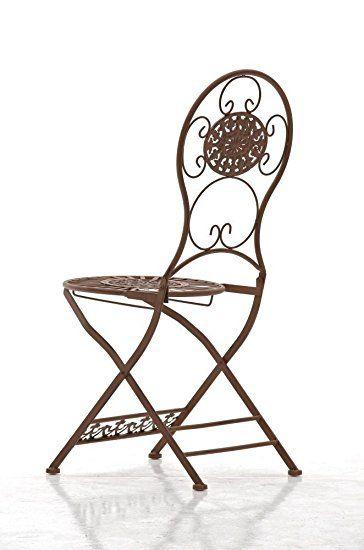 CLP Chaise pliante nostalgique MANI, Chaise fer forgé, Chaise