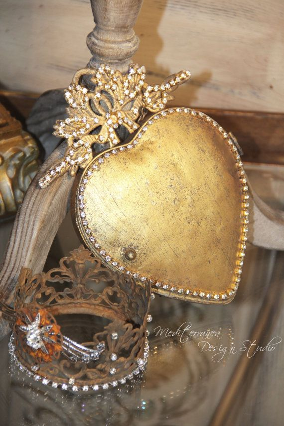 Metal heart, ex-voto heart, metal heart mirror, Mediterranea Design ...