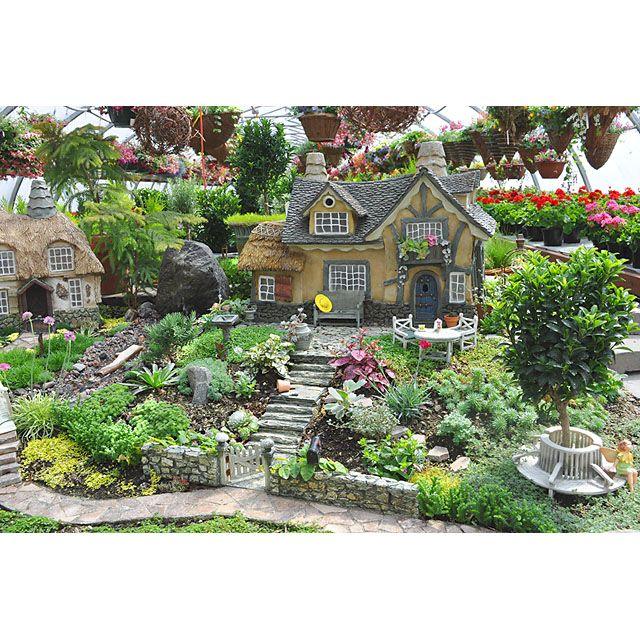 Large Fairy Garden Looks Like A Display In A Plant Nursery