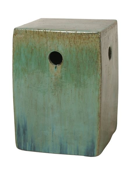 Genial Lime Green Square Ceramic Garden Stool