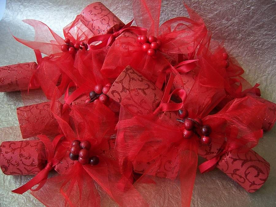 sparkling redberry mini wedding crackers by froufrou & thomas   notonthehighstreet.com