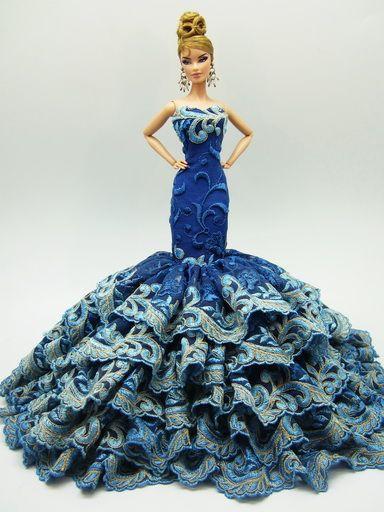 Silkstone BArbie Fashion Royalty Candi Evening Dress Outfit Gown Handmade OOAK | eBay