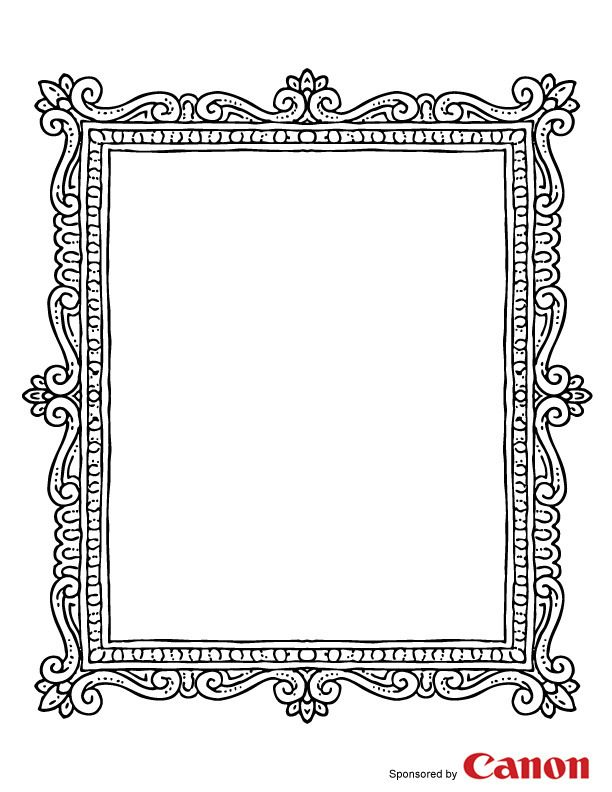 Frame 2 - Free Printable Coloring Pages | frames | Pinterest | Free ...