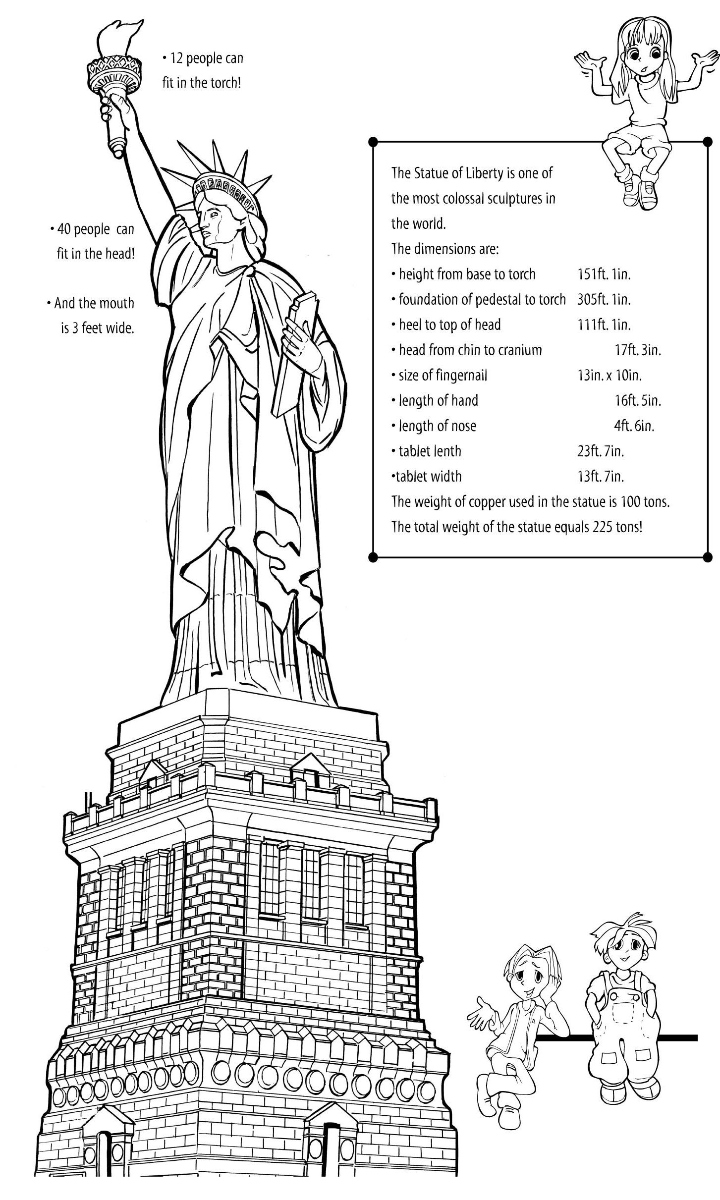 Get To Know The Statue Printable Explore your artistic side as you discover  some of the amazing facts that Lady Lib…   Statue of liberty [ 2422 x 1453 Pixel ]