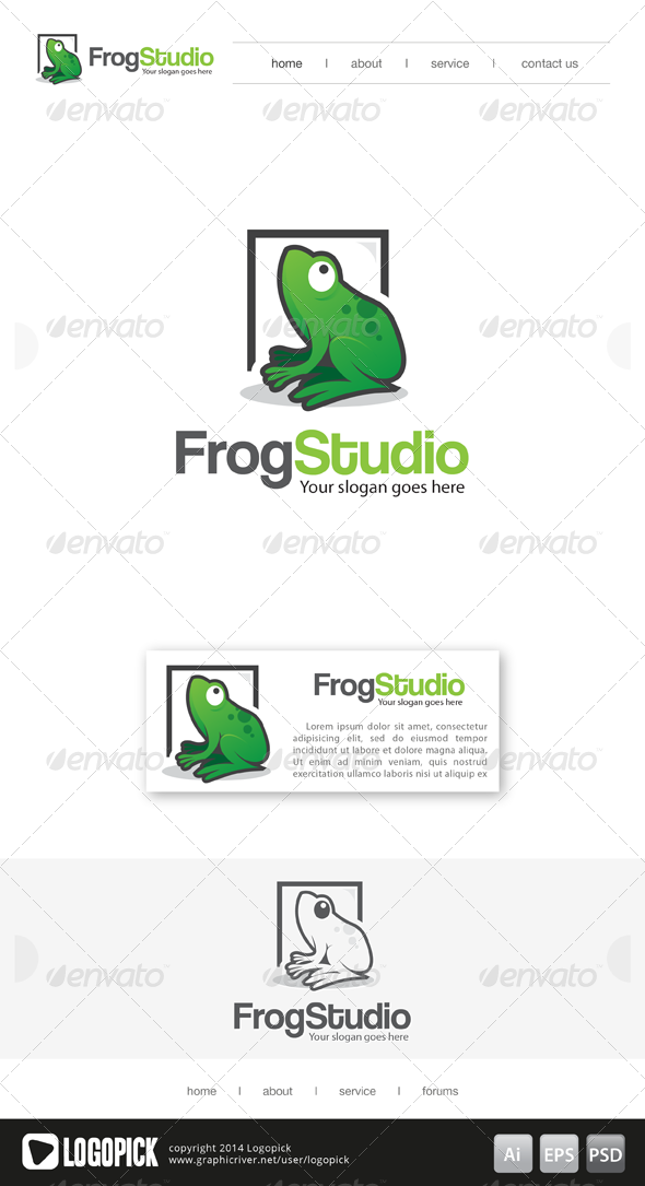 Frog Studio Logo Design Pinterest Studio Logo Logos And
