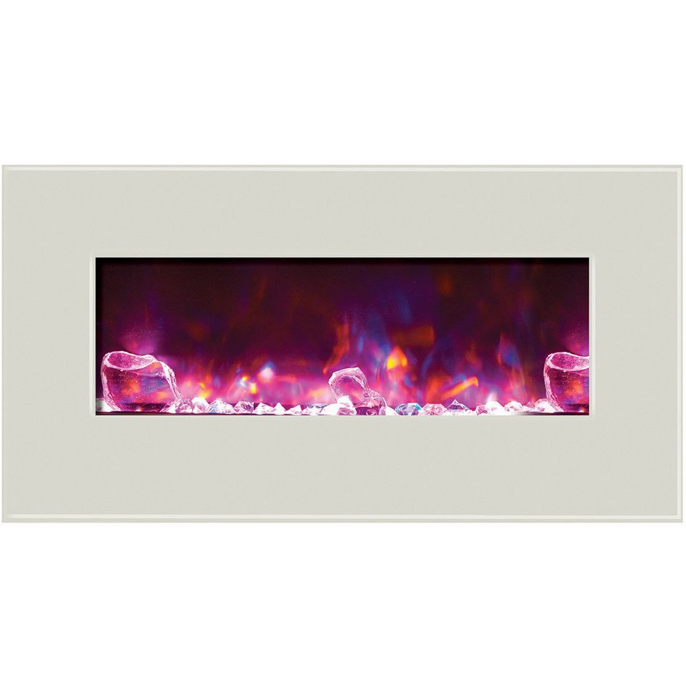 Amantii fire u ice builtinwall mount electric fireplace wmubiu