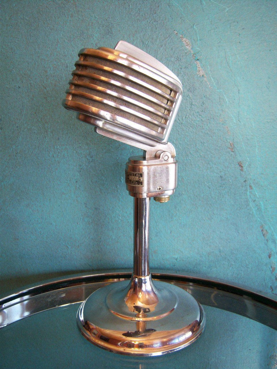Vintage RARE 1940s Turner 34X microphone deco old antique midcentury ...