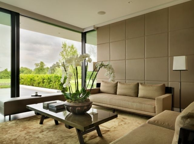 Leder Wandverkleidung Wohnzimmer modern einrichten   Küche ...
