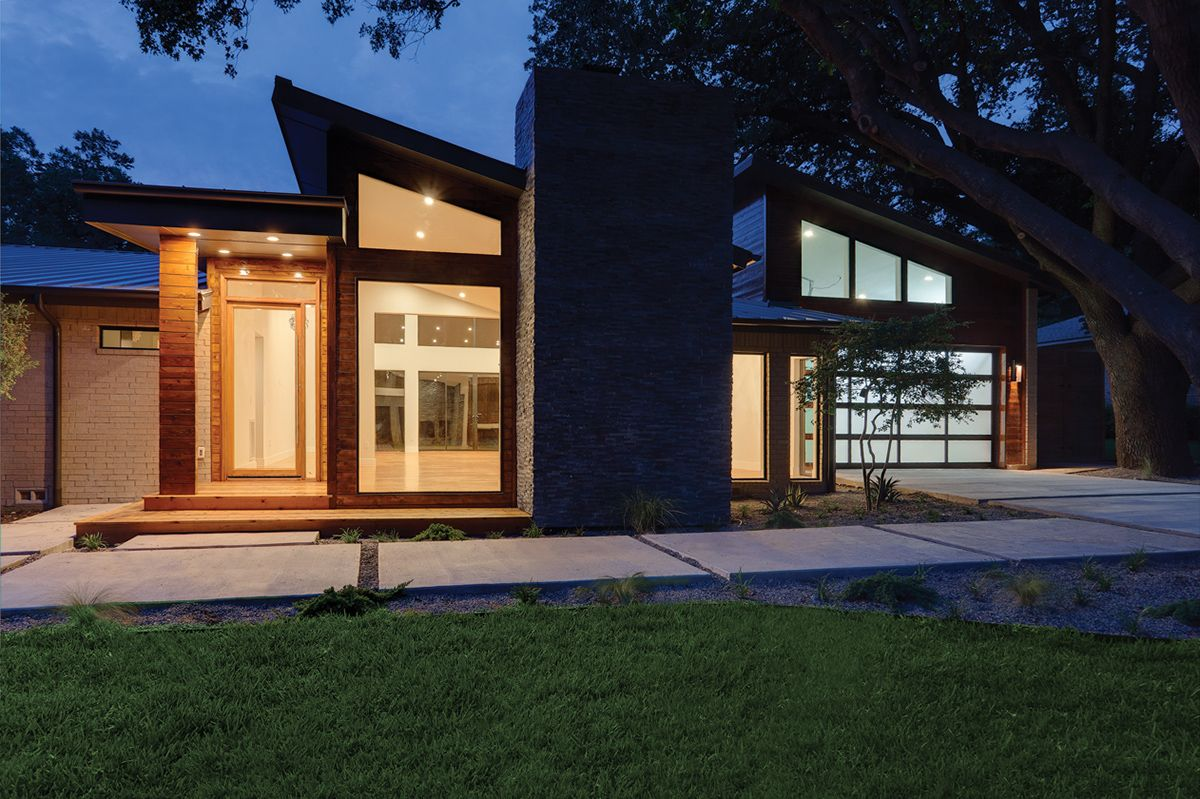 Dallas, Texas   Contemporary Style Home With Aluminum Windows And Sliding Patio  Doors