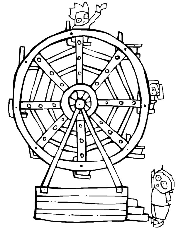 Ride Ferris Wheel At Carnival Coloring Pages Best Place To Color