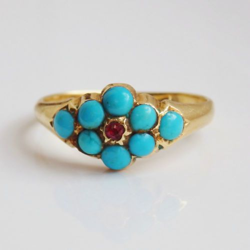 Antique Georgian 18ct Gold Turquoise