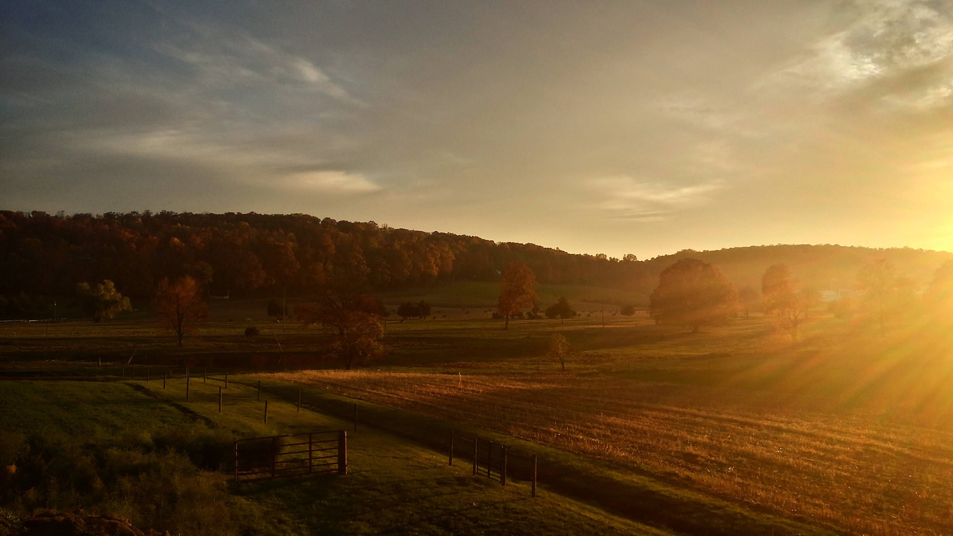 Beautiful Fall Sunset From The Heart Of Lancaster County