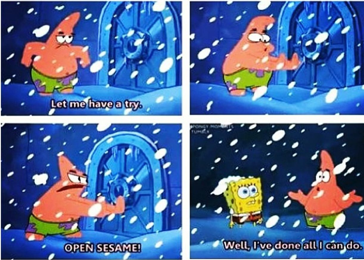 Open sesame funny cute spongebob squarepants spongebob memes best cartoons ever cool