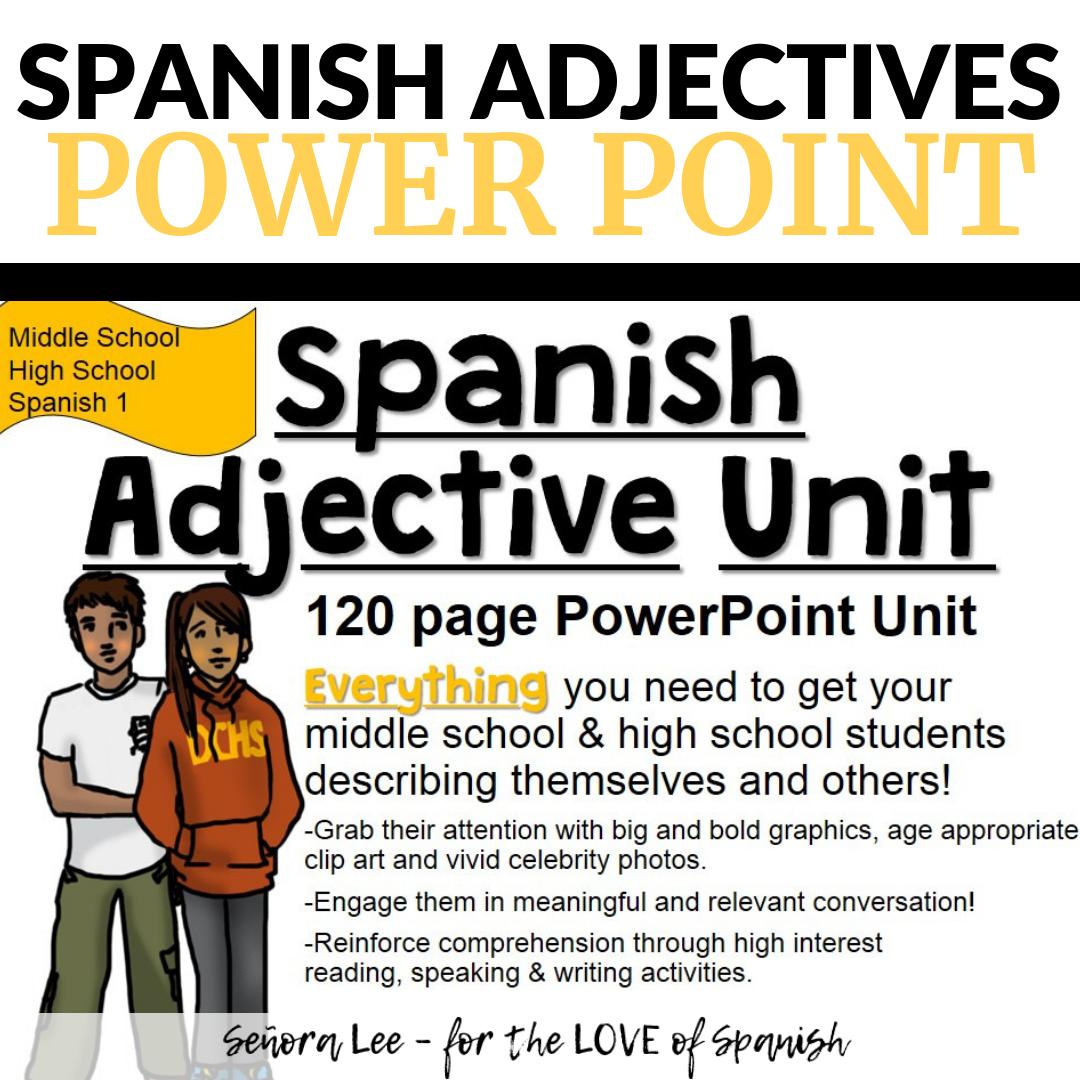 Spanish Adjective Unit
