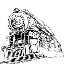 Awesome Steam Train Coloring Page Coloring pages for Adults