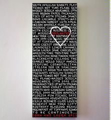 Soulmates chalkboard artwork