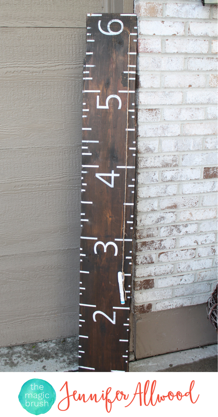 Diy growth chart ruler on reclaimed wood growth chart ruler make a growth chart ruler to track your kids growth over the years an easy diy project and make a great gift geenschuldenfo Choice Image