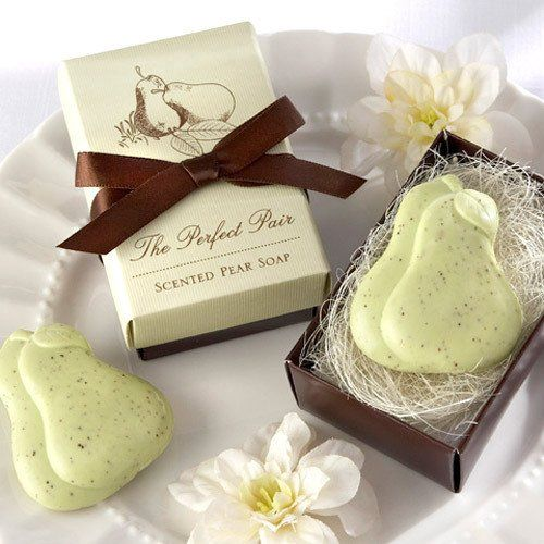 The Perfect Pair Pear Soap Favor Beau Coup Soap Wedding Favors Pear Soap Soap Favors