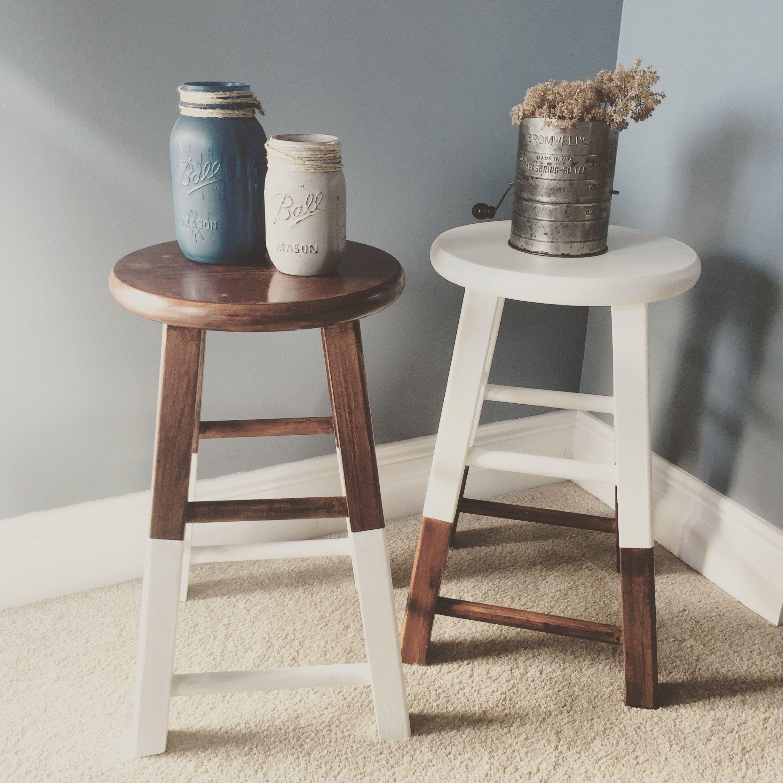Modern farmhouse dipped stools! Home decor, Stool, Decor