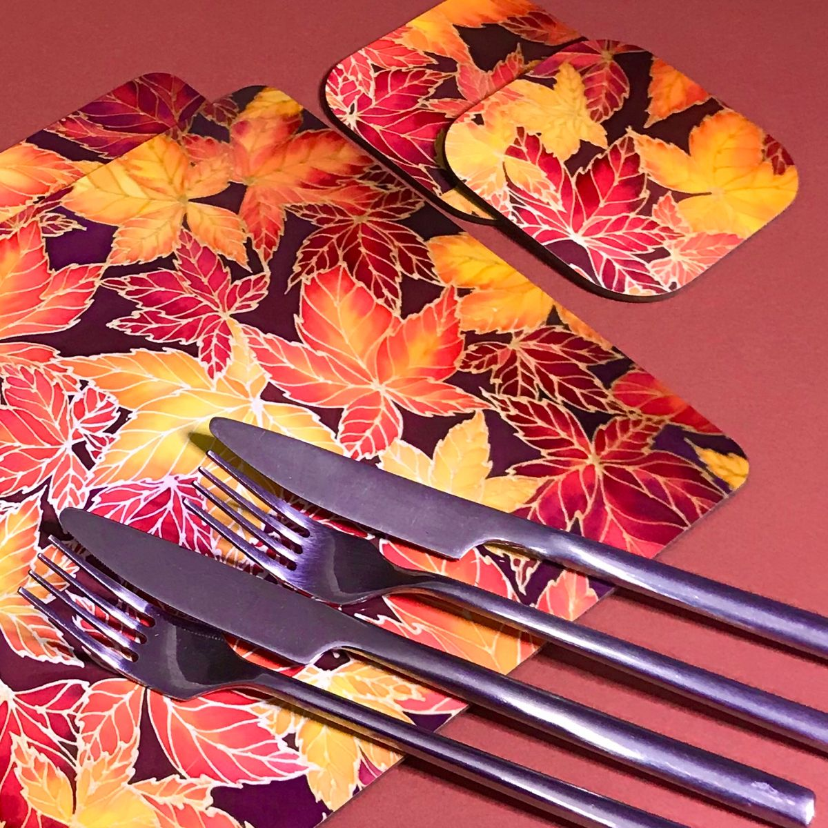 Autumn Leaves Placemats Amp Coasters