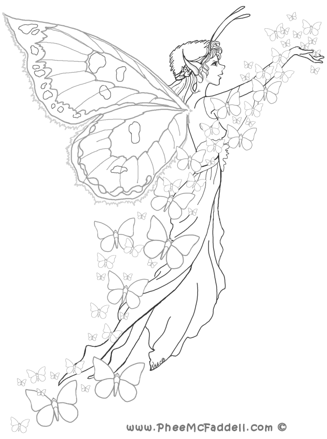 Butterfly Fairy Coloring Page Fairy Coloring Pages Fairy Coloring Coloring Pages