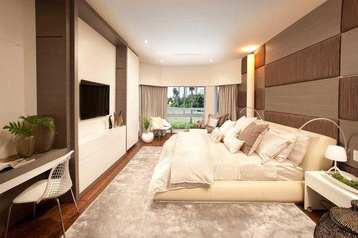 schlafzimmer einrichten gemütliches design helle farben Decor
