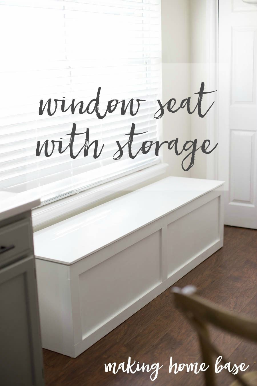How to build a window seat with storage diy tutorial extra storage space extra storage and - Make cabinet scratch extra storage space ...