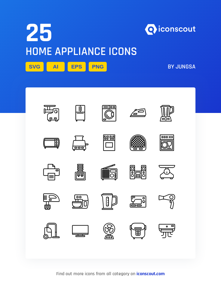 Download Home Appliance Icon Pack Available In Svg Png Eps Ai Icon Fonts Home Appliances Appliances Icon