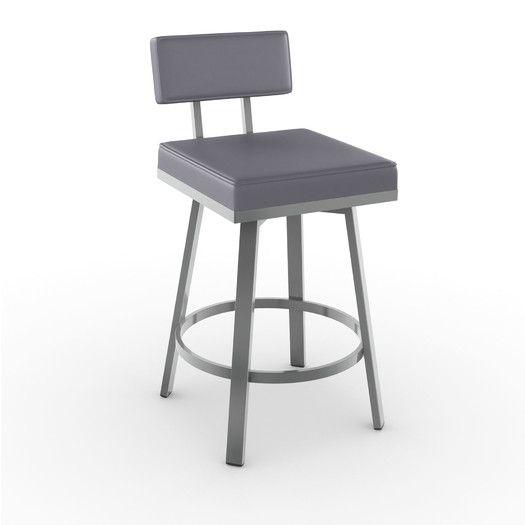 "Amisco New York Style 26"" Swivel Bar Stool with Cushion   AllModern"