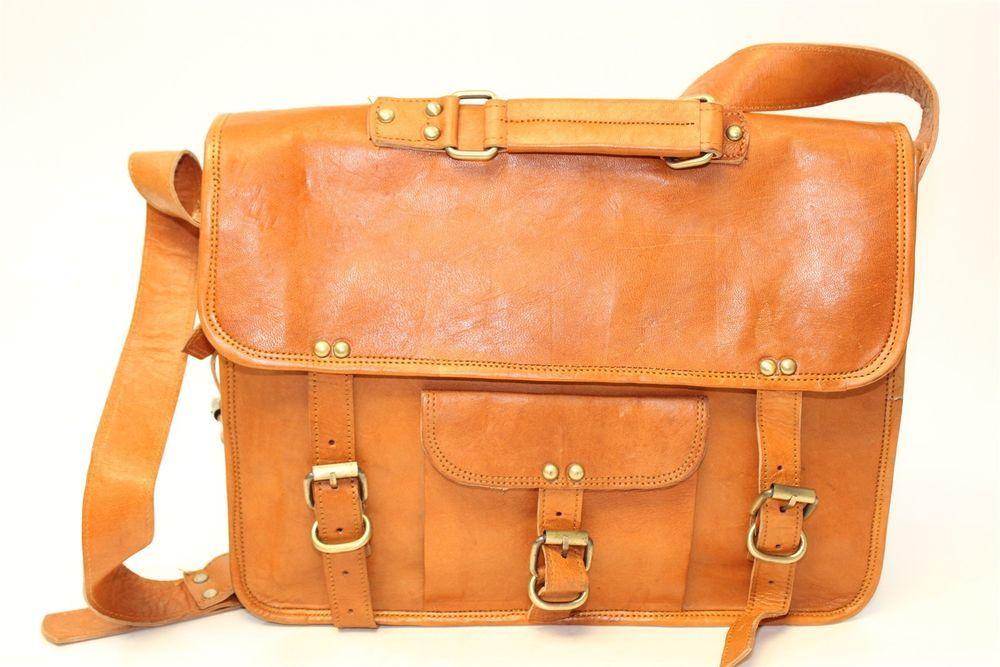 e0fd9ee414 Handcrafted British Tan Leather Messenger Crossbody Shoulder Bag wx