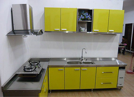 Hot Item Modern Stainless Steel Kitchen Cabinets Furniture Metal Kitchen Cabinets Steel Kitchen Cabinets Stainless Steel Kitchen Cabinets