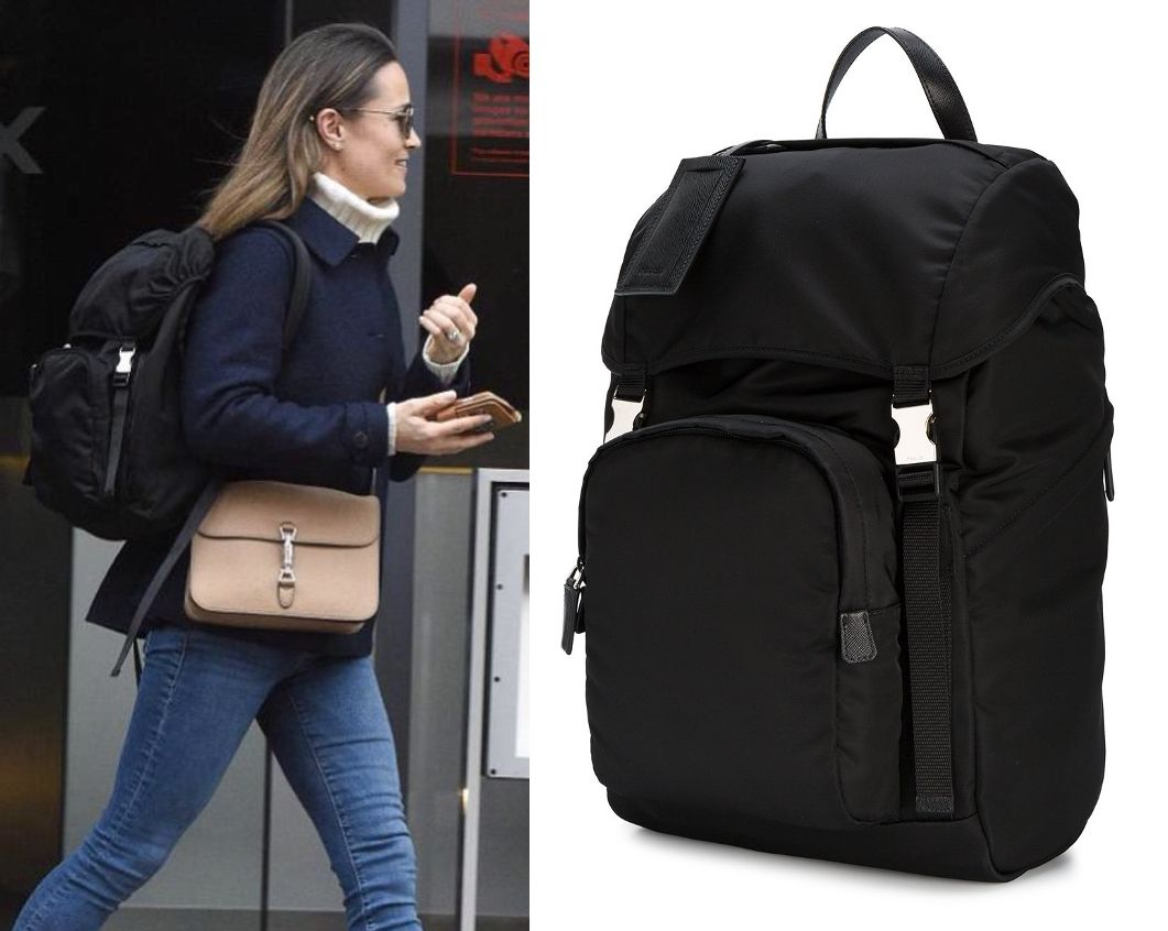 outlet store 14edf f4487 SHOP the Prada nylon backpack as seen on Pippa Middleton